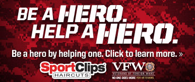 Sport Clips Crossroads at Pleasant Hill​ Help a Hero Campaign